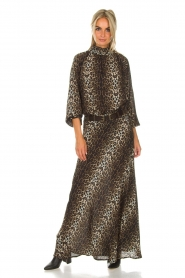 Lolly's Laundry |  Maxi skirt with leopard print Mio | animal print  | Picture 7
