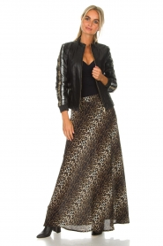 Lolly's Laundry |  Maxi skirt with leopard print Mio | animal print  | Picture 2