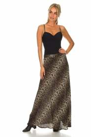 Lolly's Laundry |  Maxi skirt with leopard print Mio | animal print  | Picture 3