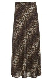 Lolly's Laundry |  Maxi skirt with leopard print Mio | animal print  | Picture 1