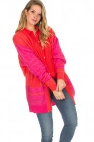Lolly's Laundry | Fel gekleurd vest Carrie | rood  | Afbeelding 5