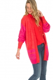 Lolly's Laundry | Fel gekleurd vest Carrie | rood  | Afbeelding 4