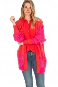 Lolly's Laundry | Fel gekleurd vest Carrie | rood  | Afbeelding 2