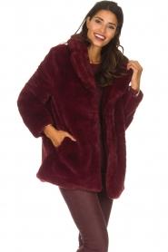 Lolly's Laundry |  Faux-fur coat Emma | bordeaux  | Picture 6