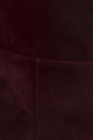 L'Autre Chose | Suède laarzen Solena | bordeaux  | Afbeelding 7