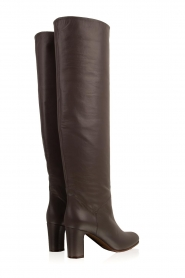 L'Autre Chose |  Leather knee-high boots Nathalia | grey  | Picture 5