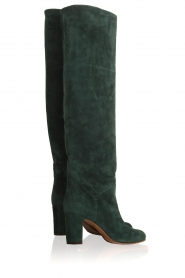 L'Autre Chose |  Suède knee-high boots Cher | green  | Picture 5