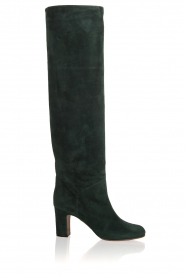 L'Autre Chose |  Suède knee-high boots Cher | green  | Picture 1