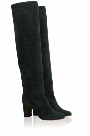L'Autre Chose |  Suède knee-high boots Cher | green  | Picture 4