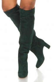 L'Autre Chose |  Suède knee-high boots Cher | green  | Picture 2