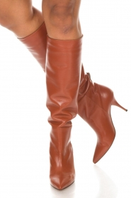 L'Autre Chose |  Leather boots Solena | camel  | Picture 3