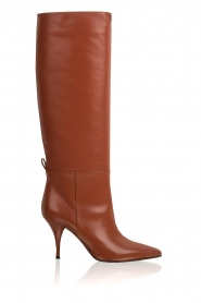 L'Autre Chose |  Leather boots Solena | camel  | Picture 1