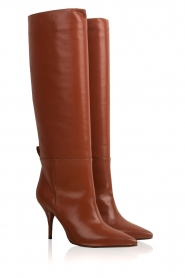 L'Autre Chose |  Leather boots Solena | camel  | Picture 4