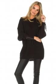 Dante 6 |  Long sweater Cooper | black  | Picture 2