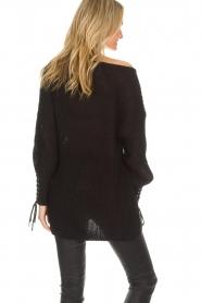 Dante 6 | Lange trui Cooper | zwart  | Afbeelding 5