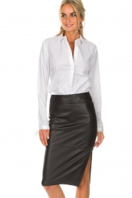 Dante 6 |  Blouse with bows Brooke | white  | Picture 2