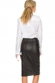 Dante 6 |  Blouse with bows Brooke | white  | Picture 5