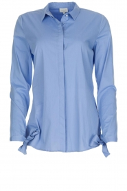 Dante 6 |  Blouse with bows Brooke | blue  | Picture 1
