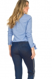 Dante 6 |  Blouse with bows Brooke | blue  | Picture 6