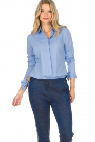 Dante 6 |  Blouse with bows Brooke | blue  | Picture 2