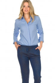 Dante 6 |  Blouse with bows Brooke | blue  | Picture 4