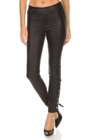 Dante 6 |  Leather legging Rockstar | black  | Picture 4
