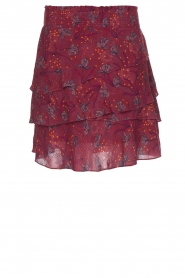 Dante 6 |  Skirt with floral print Riva | Bordeaux  | Picture 1