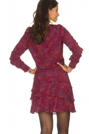 Dante 6 |  Skirt with floral print Riva | Bordeaux  | Picture 5