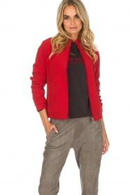 Dante 6 |  Bomber jacket with ruffles on the back Debutante | red  | Picture 2