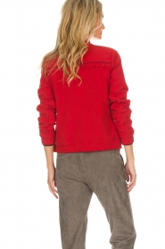 Dante 6 |  Bomber jacket with ruffles on the back Debutante | red  | Picture 5