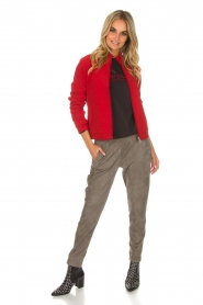 Dante 6 |  Bomber jacket with ruffles on the back Debutante | red  | Picture 3