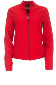 Dante 6 |  Bomber jacket with ruffles on the back Debutante | red  | Picture 1