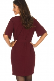 Dante 6 |  Dress with slit in the sleeves Stello | bordeaux  | Picture 6