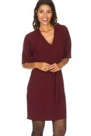 Dante 6 |  Dress with slit in the sleeves Stello | bordeaux  | Picture 2