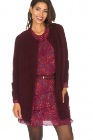 Dante 6 |  Long cardigan Prince | bordeaux  | Picture 2