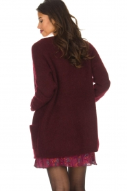 Dante 6 |  Long cardigan Prince | bordeaux  | Picture 5