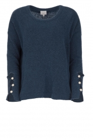 Dante 6 |  Sweater with pearls on the sleeves Pearl | blue  | Picture 1
