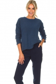 Dante 6 |  Sweater with pearls on the sleeves Pearl | blue  | Picture 4