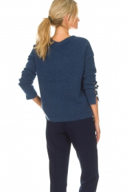 Dante 6 |  Sweater with pearls on the sleeves Pearl | blue  | Picture 6