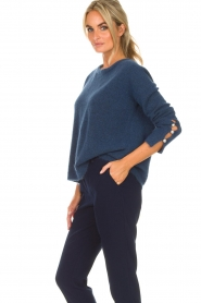 Dante 6 |  Sweater with pearls on the sleeves Pearl | blue  | Picture 5