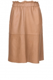 Dante 6 |  Leather skirt Temari | camel  | Picture 1
