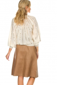 Dante 6 |  Leather skirt Temari | camel  | Picture 5