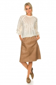 Dante 6 |  Leather skirt Temari | camel  | Picture 3