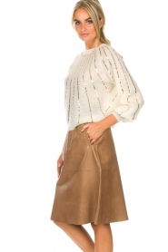 Dante 6 |  Leather skirt Temari | camel  | Picture 4
