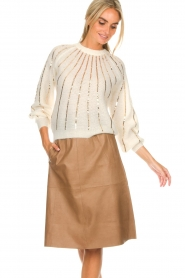 Dante 6 |  Leather skirt Temari | camel  | Picture 2