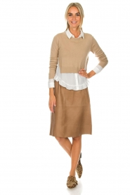 Dante 6 |  Leather skirt Temari | camel  | Picture 6