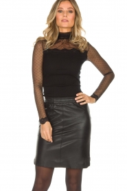 Dante 6 |  Leather skirt Comet | black  | Picture 2