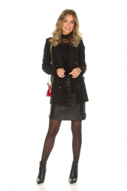 Dante 6 |  Leather skirt Comet | black  | Picture 3