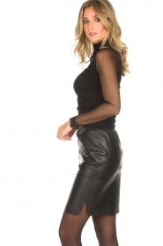 Dante 6 |  Leather skirt Comet | black  | Picture 4