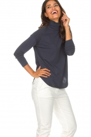 Blaumax |  Turtleneck top Ilona | blue  | Picture 4
